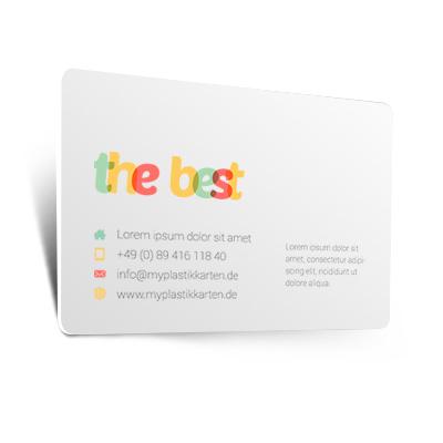 Visitenkarten Aus Plastik Pvc Drucken Myplastikkarten