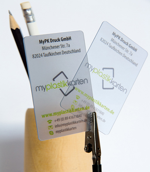 Transparente Und Durchsichtige Visitenkarten Aus Plastik