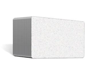 Blankokarten weiß metallic