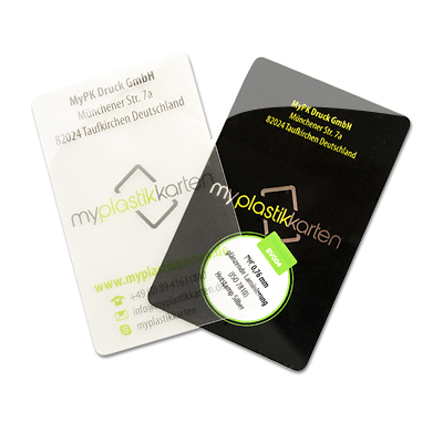Gefrostete Visitenkarten Myplastikkarten