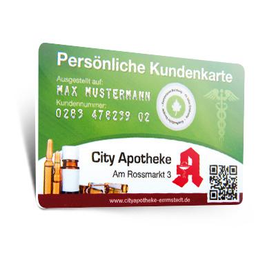 Apothekenkarte mit Barcode
