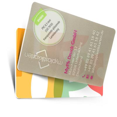 Farbige Transparente Visitenkarten