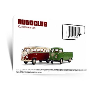 Kundenkarten mit Barcode und Etikett