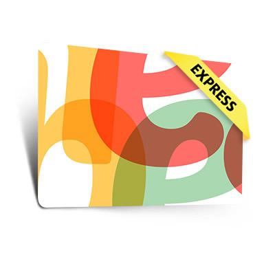 Dünne Plastikkarten Express (0,50 mm)